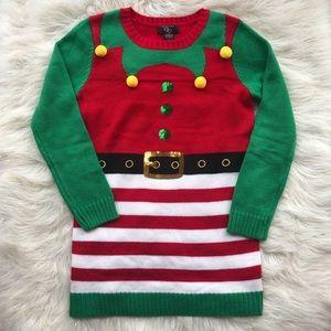 ☃️HP☃️It's Our Time Dress Knit Juniors Santa's Elf